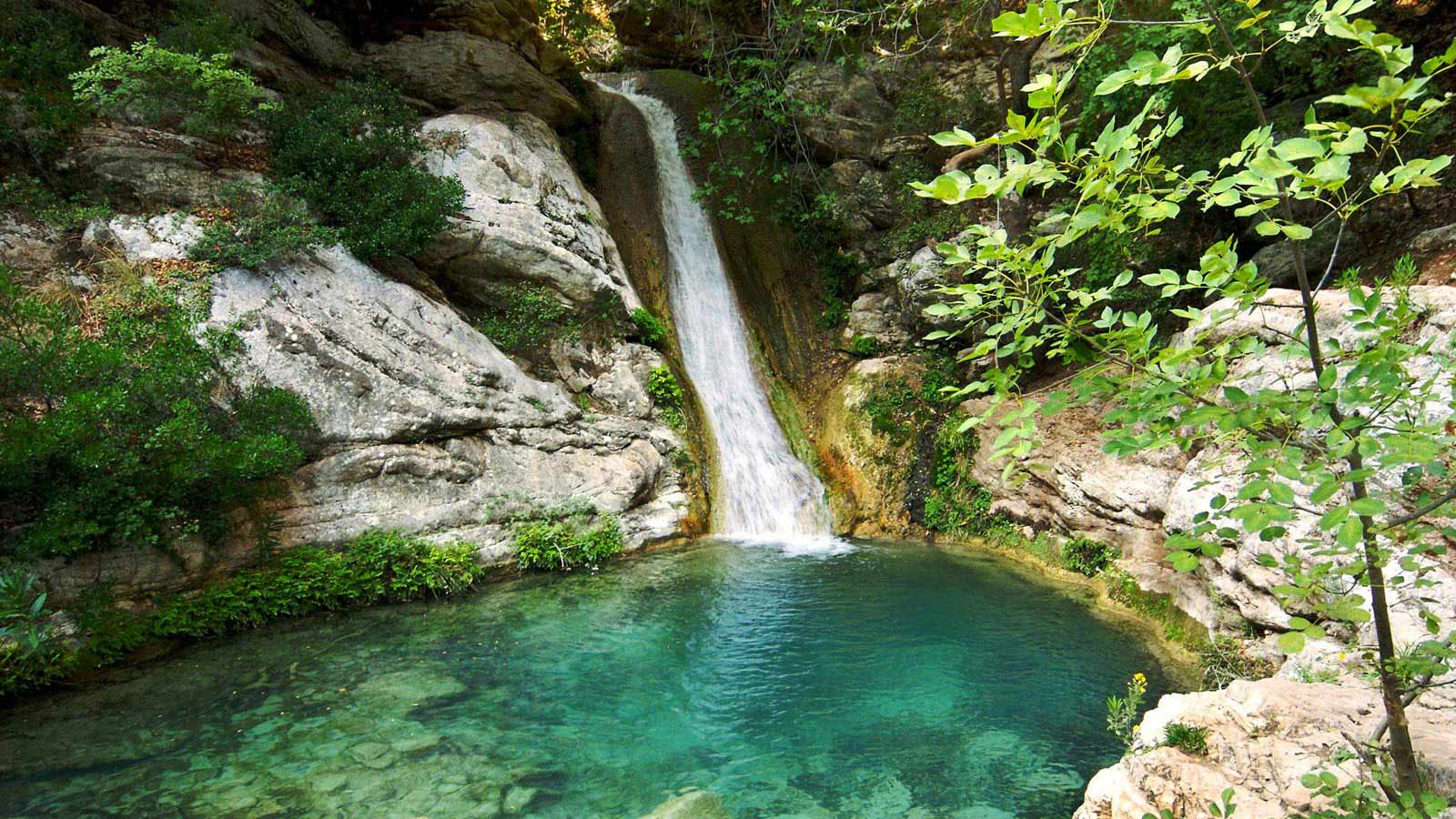 Polylimnio Waterfalls Costa Navarino Messinia Greece